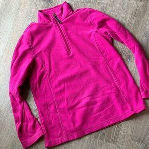 Lands' End • Magenta Fleece Pull Over • Small 6-8